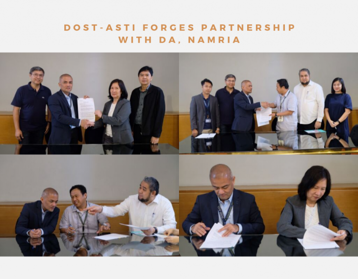 DOST-ASTI forges partnership with DA, NAMRIA