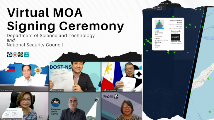 DOST inks MOA with NSC for SAR with AIS Project implementation